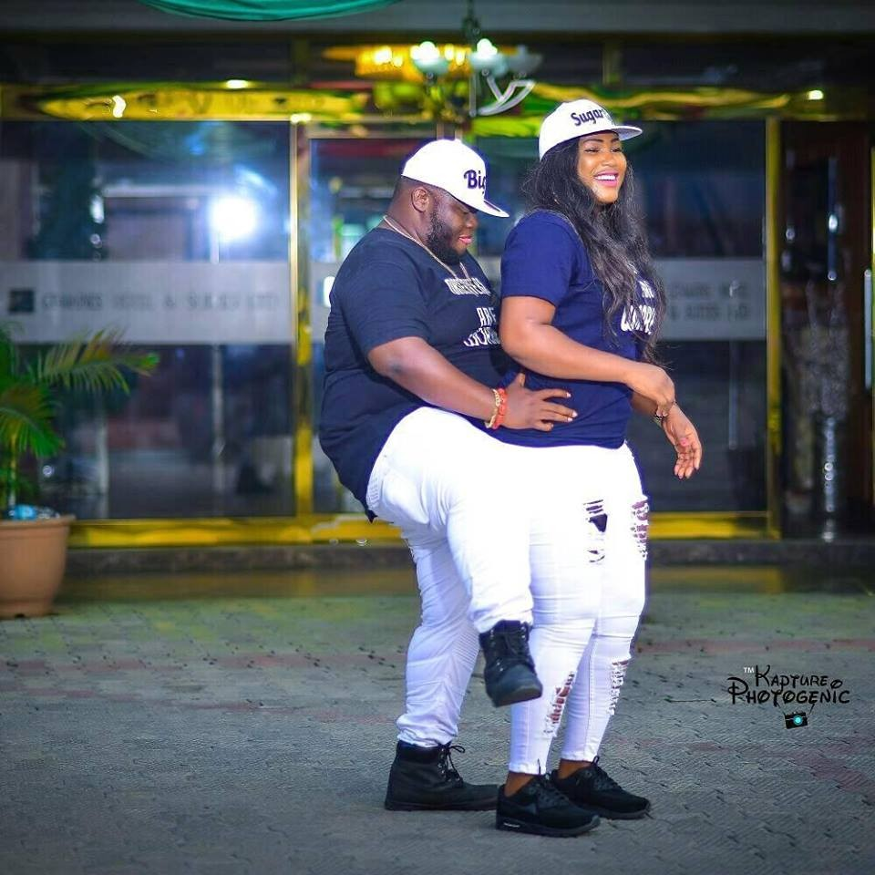 Plus-sized Nigerian man and his fiancee share their raunchy pre-wedding photos