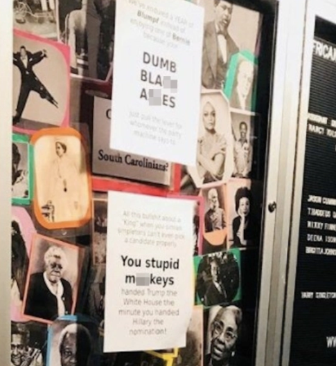 """You stupid m**keys"" - Racist signs plastered over university campus"