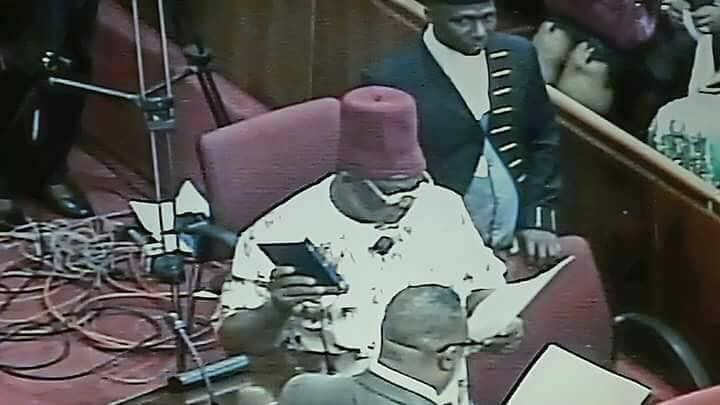 Photos: Ex-APGA chairman, Victor Umeh, sworn in as Senator