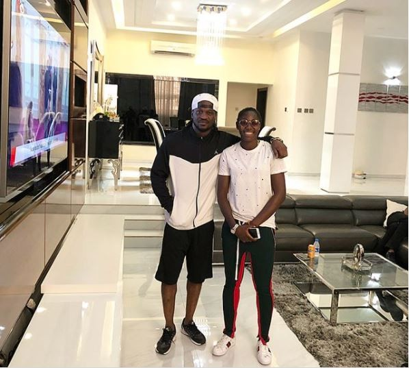 Super Falcons stars Asisat and Onome pay a courtesy visit to Paul Okoye at his mansion? (Photos)