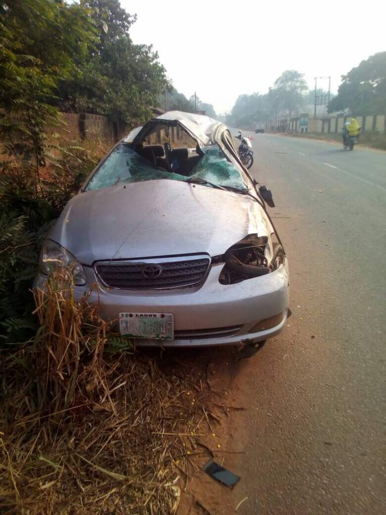 Filmmaker, Chukwuka Emelionwu aka Kasvid, was on his way from a funeral when he had the accident+ see photos from the accident scene