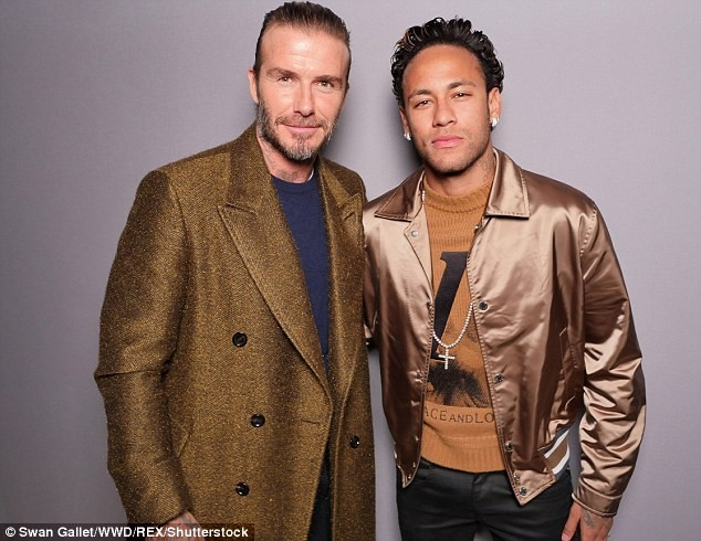 Neymar and David Beckham meet at Paris Fashion Week (Photos)