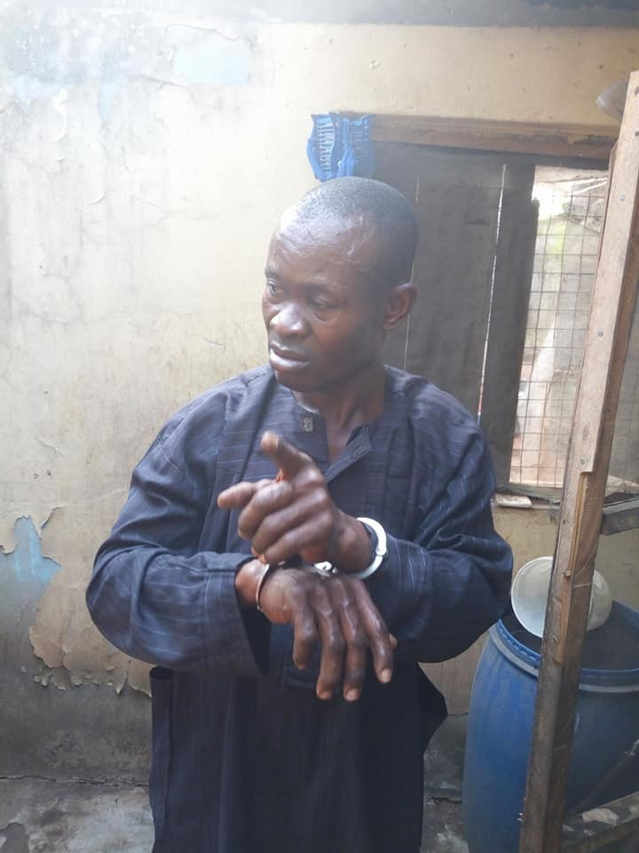 Photos: Delta Pastor arrested for abducting and hypnotizing 21 year old girl he claims God told him was his wife