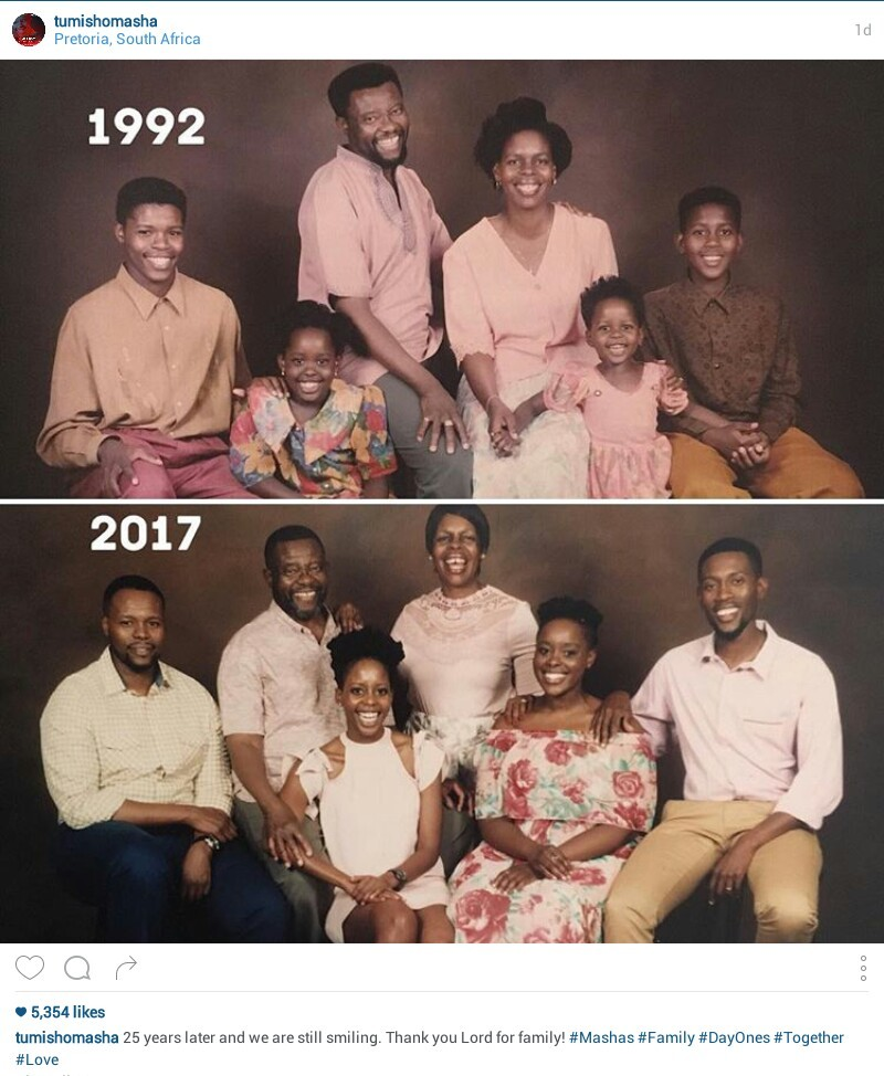 25 years later and still smiling! South African family recreates their photo taken in 1992