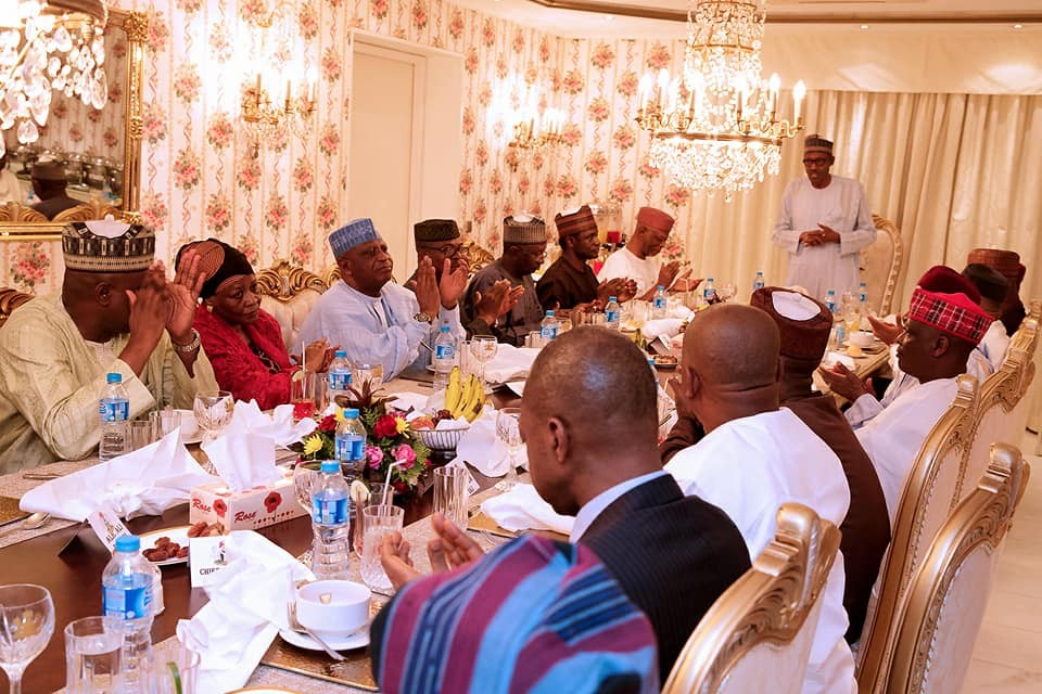 Photos: President?Buhari hosts?APC chieftains to dinner at the state house