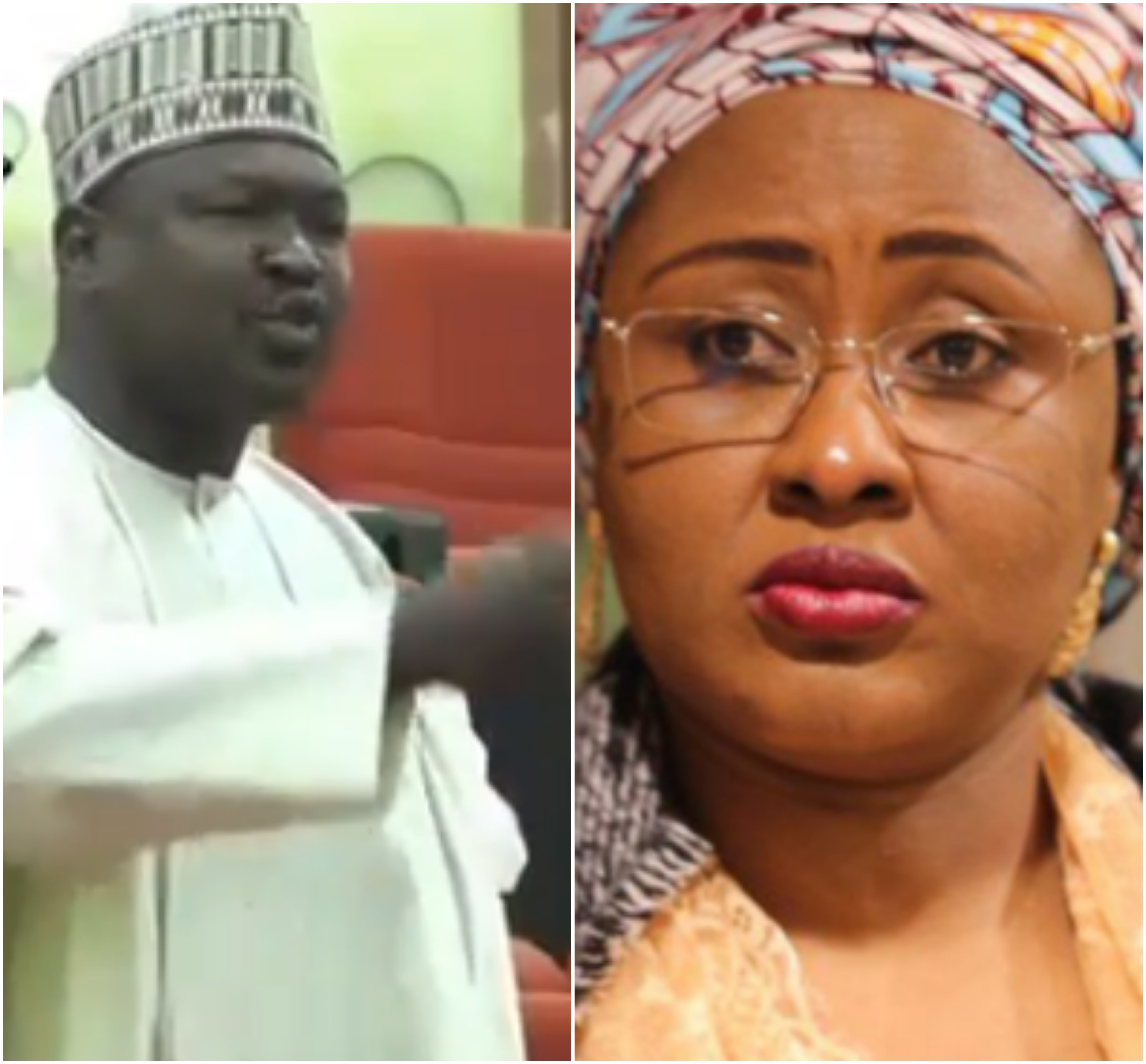 Aisha Buhari shares video of a Senator saying President Buhari is not in charge of his government