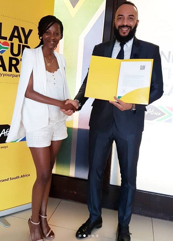 Matthew Mensah appointed Ambassador for Brand South Africa for contribution to society (photos)