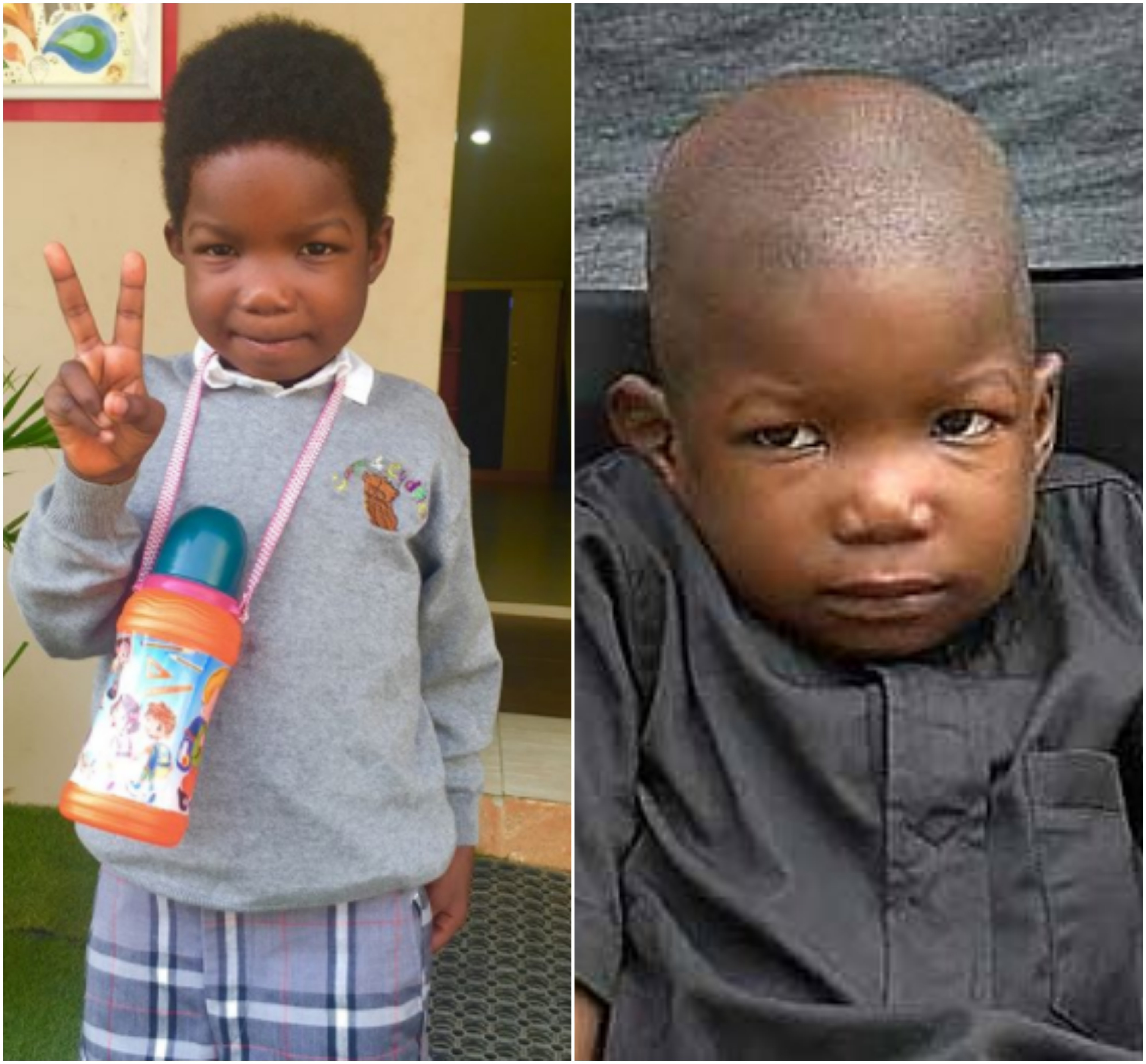 6yr old Chibok boy who had surgery for spinal cord injuries he sustained during Boko Haram attack, has started school (photos)