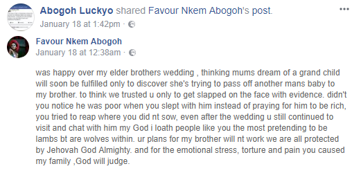 Nigerian man accuses his wife of getting married to him with a pregnancy that belongs to her ex-boyfriend