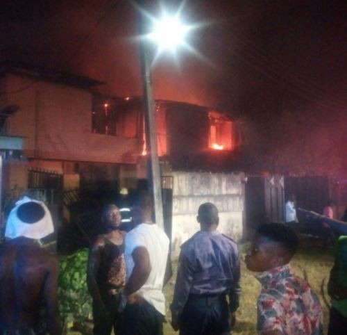 No casualty as 3 Duplexes burn down in?Gowon Estate, Lagos