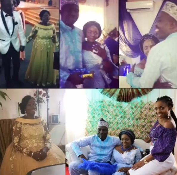 Photos: Simi is the?chief bridesmaid as her 60-year old mum gets married today
