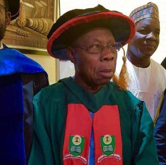 Photos: President Olusegun Obasanjo?graduates?with PhD from National?Open University