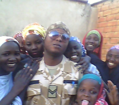 Photo of the Nigerian soldier who ladies in Borno state love to take selfies with