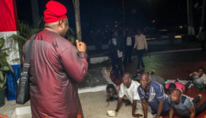 Dele Momodu shares a photo of Nigerians who prostrated to welcome him in Liberia