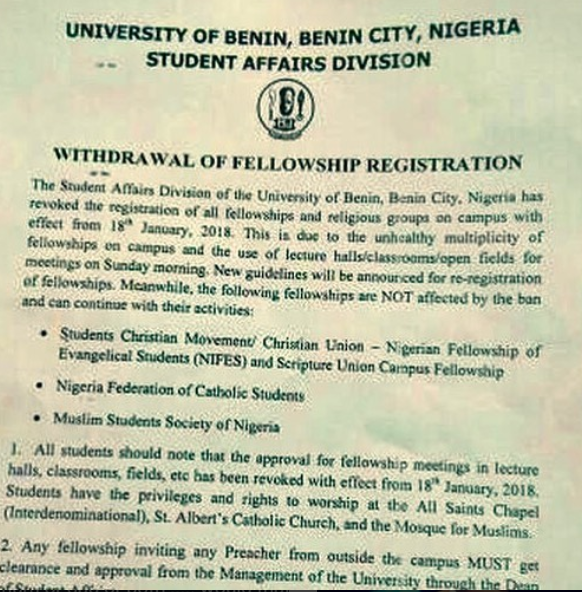 Daddy Freeze celebrates as University of Benin revokes the registration of fellowships and religious groups in the school