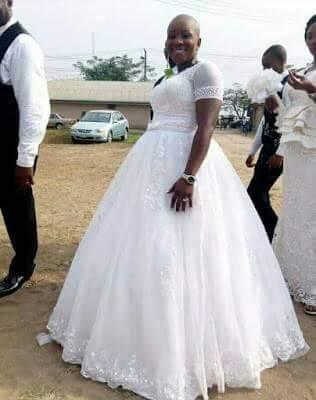 Photos: Nigerian bride proudly rocks a bald head on her wedding day