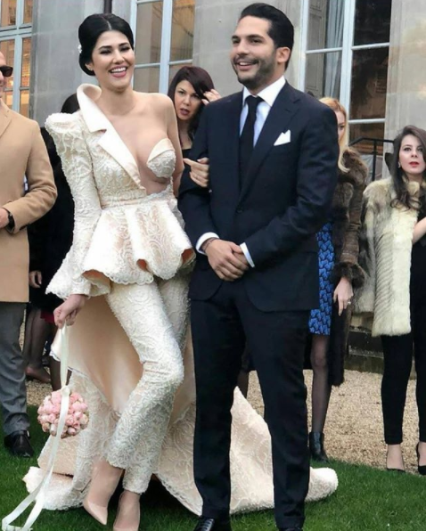 This has got to be one of the most daring wedding outfits ever worn by a bride