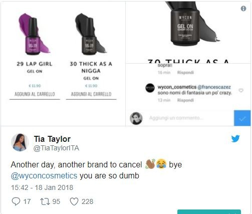 Italian beauty brand slammed for giving their black nail polish racist name (Photos)