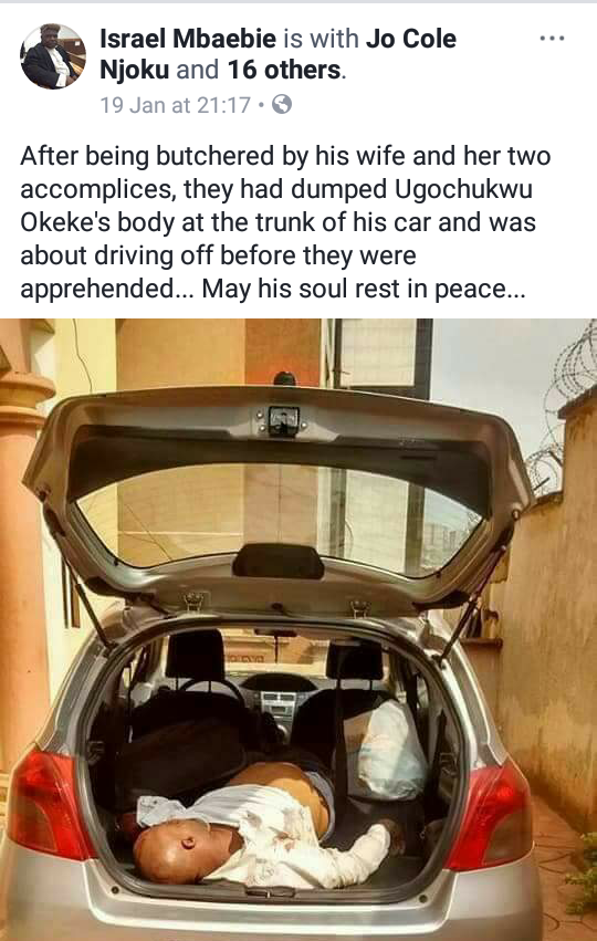 Nigerian man allegedly killed by his wife in Cameroon