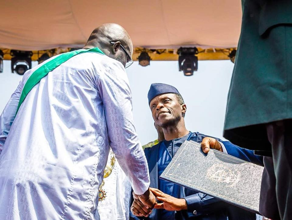 Photos of Vice President Yemi Osinbajo at the inauguration of Liberia