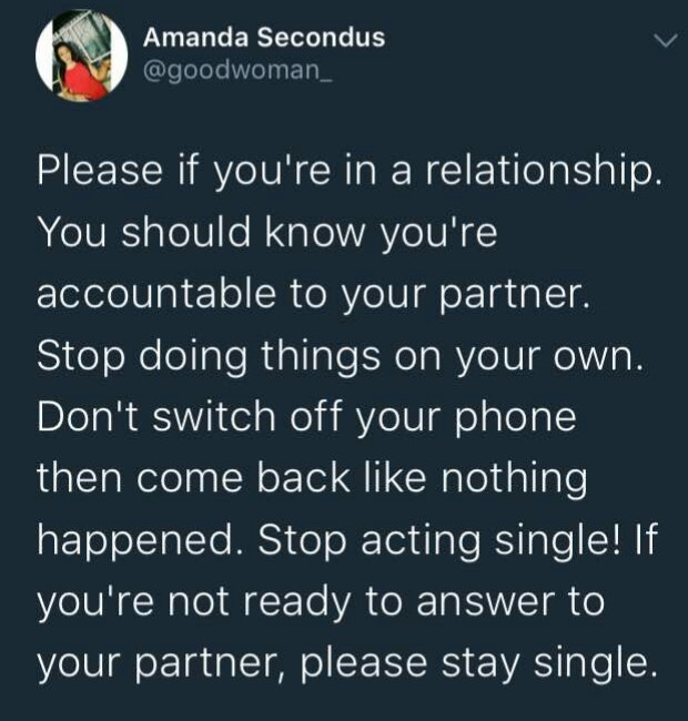 Lady advises men in relationships to stop acting single