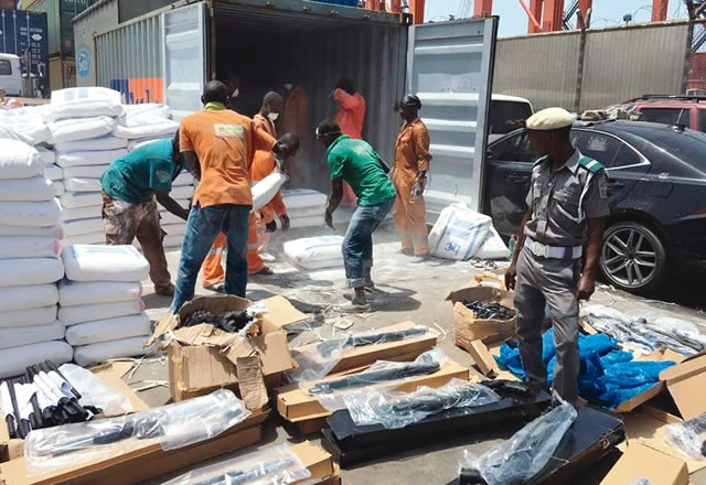 Container laden with weapons and military uniforms allegedly disappears from Apapa Port