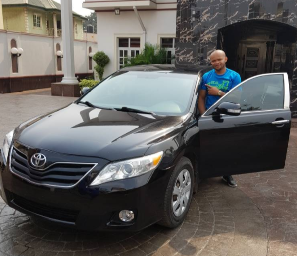 Photos: Kcee gifts his long time logistics officer a new car