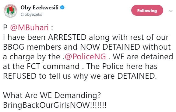 Update: Oby Ezekwesili detained then released by the FCT police commissioner