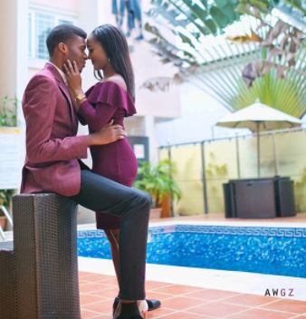 Trending pre-wedding photos of a Nigerian bride and her very tall groom