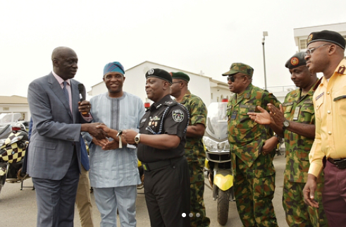 Lagos government donates power bikes to state police command to fight Insecurity?
