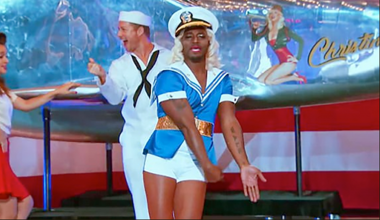 Taye Diggs dresses like a woman in skimpy outfit