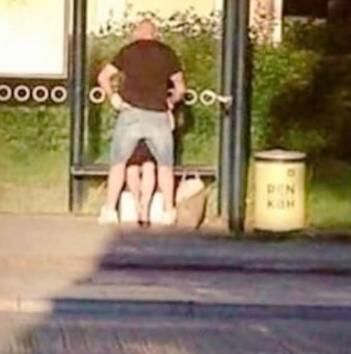 Couple seen having oral sex at bus stop (video)