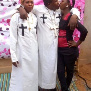 Tanzanian pastor who shared pictures of himself kissing his wife and house-help arrested for indecency (photos)