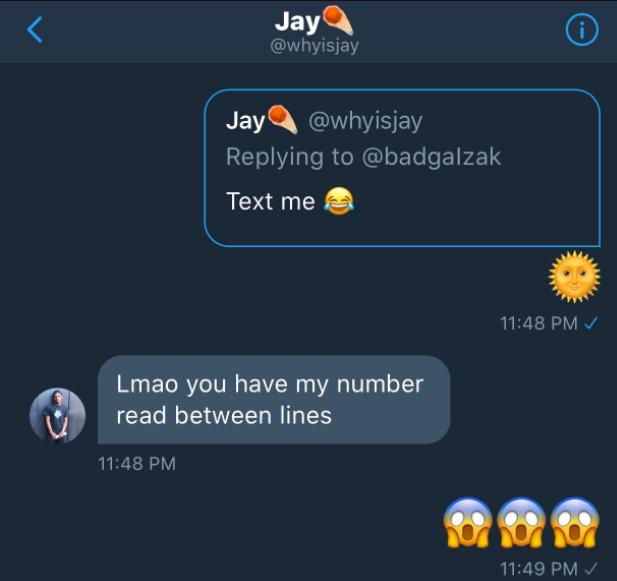 Smooth operator! See how this male Twitter user dropped his number for a girl to contact him