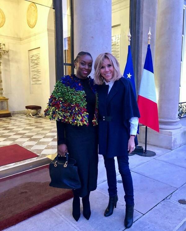 Photo: Chimamanda Adichie meets French First Lady, Brigitte Macron