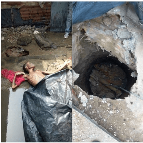 Photos; Rivers police recover body of 19-Year-Old girl allegedly strangled to death and dumped inside septic tank
