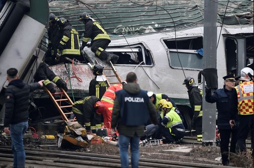 Milan train crash leaves at least 3 dead and more than 100 injured after rush-hour horror derailment (Graphic photos)