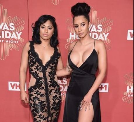 Lol..Cardi B rips a non-fan apart for blasting her younger sister