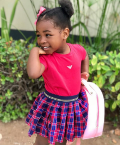 """Thank God for you"" Davido says as he shares adorable photo of his first daughter"