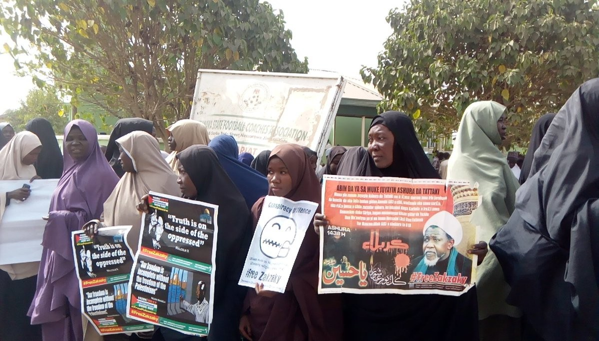 Photos: Shiite members stage protest in Yola, demand the release of their leader Ibrahim El-Zakzaky