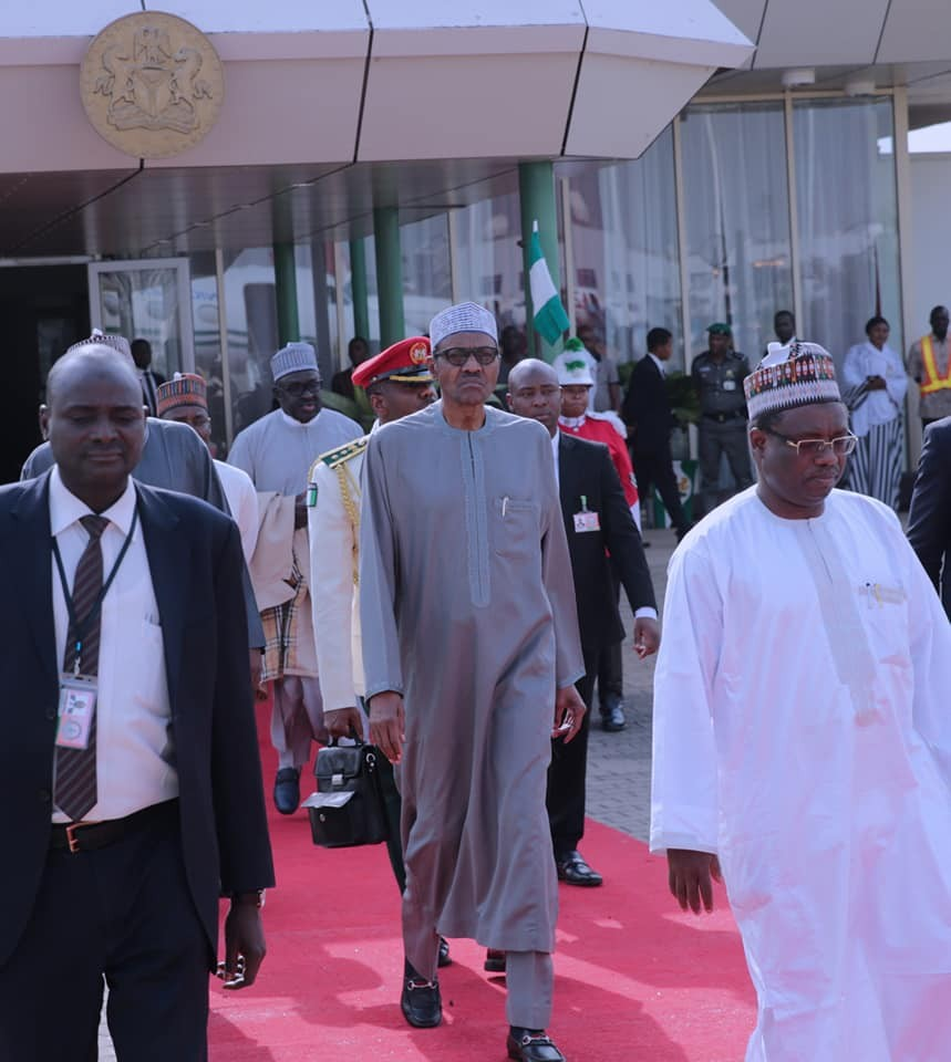 Photos:?President Buhari departs for African Union Summit in Addis Ababa