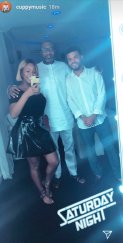 DJ Cuppy takes someone special on a dinner date with her father, Femi Otedola (photos)