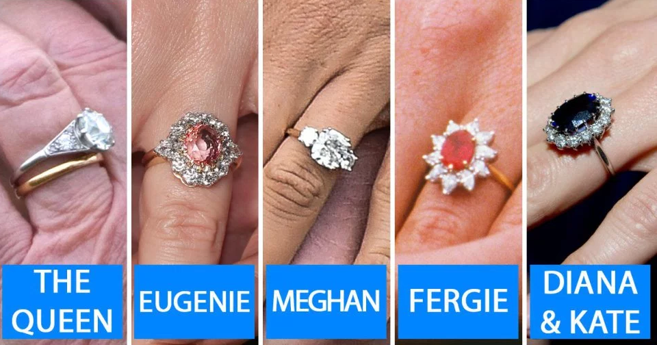 Queen Elizabeth, Kate Middleton, Princess Diana, and Meghan Markle. Who has the most expensive engagement ring?