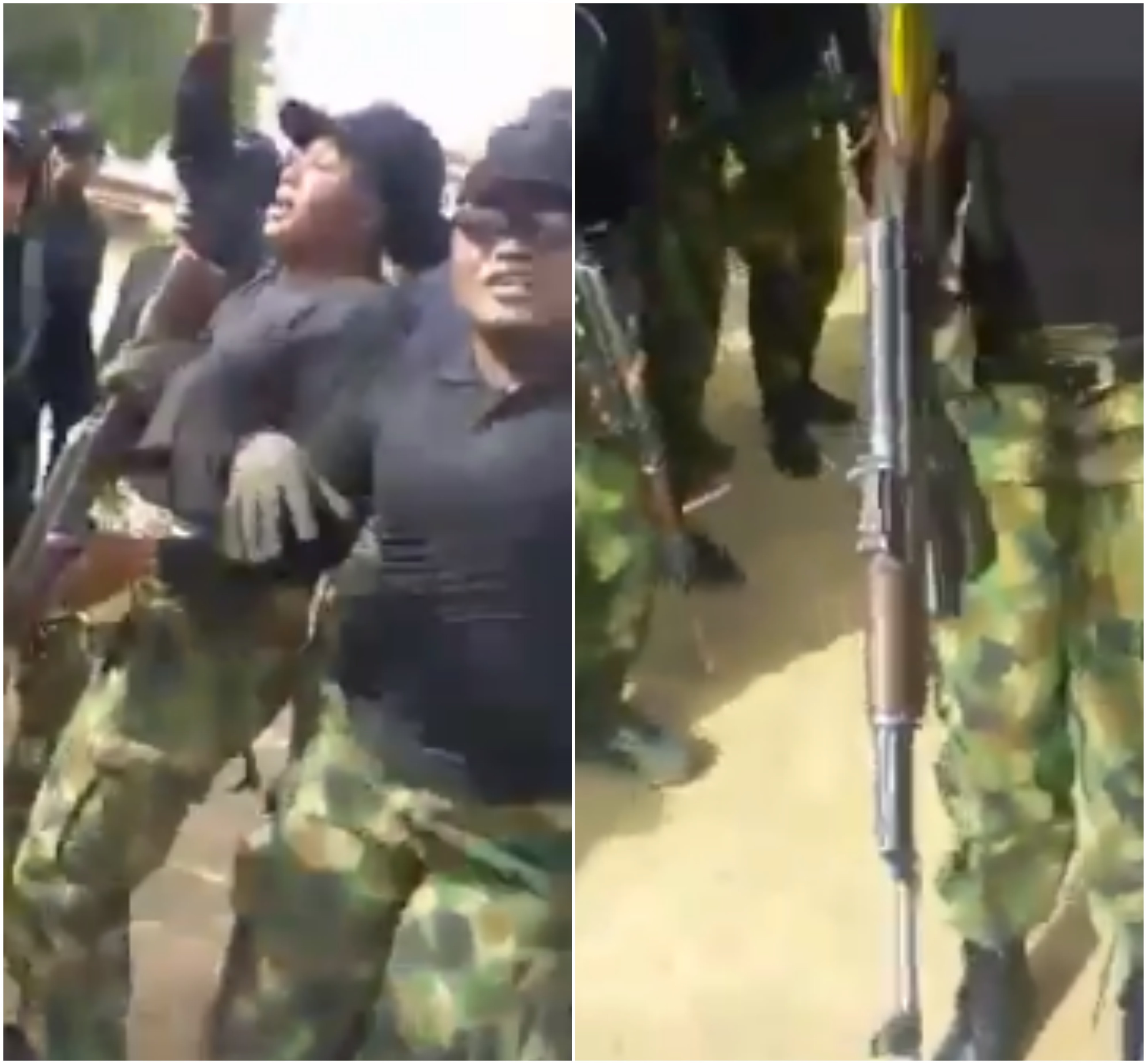 Video: Watch Female Nigerian soldiers dance in excitement following their deployment to the North East to fight Boko Haram