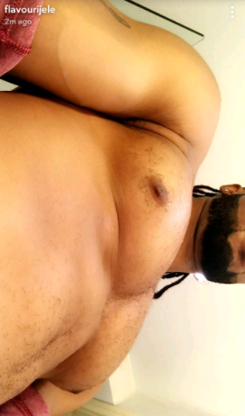 Flavour shares close-up photo of his nipples on Snapchat