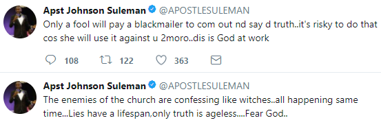 Apostle Suleman reacts to claims he paid Stephanie Otobo to make her shocking confession