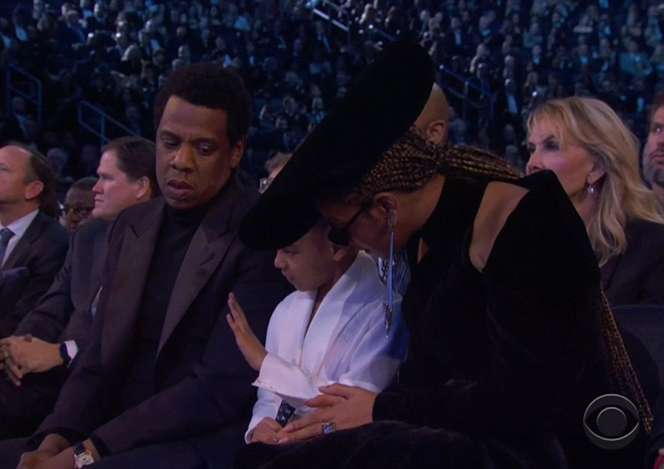 Here is the moment Blue Ivy told Jay-Z and Beyonce to stop clapping at the Grammys (Video)