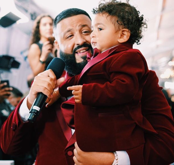 Photos: Dj Khaled and his son, Asahd rock matching Tuxedo to the Grammys