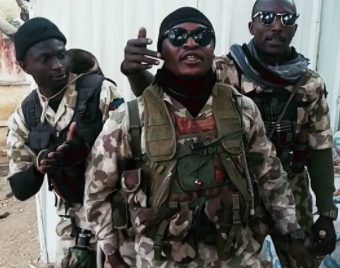 Nigerian soldiers fighting Boko Haram in the North-East show off their rap skills in new video