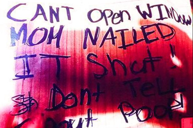 Chilling note kept in window of home where three teens were starved by adoptive mum until one died as photos reveal horrific abuse (disturbing photos)